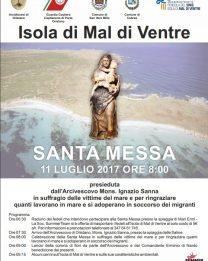 Santa Messa dell'Arcivescovo sull'Isola di Mal di Ventre