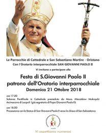 Domenica 21 ottobre in Cattedrale la festa di San Giovanni Paolo II