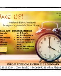 """""""Wake UP!"""" – fine settimana di pre-seminario con il gruppo Samuel"""