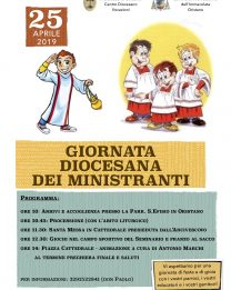 Giovedì 25 aprile la Giornata Diocesana dei Ministranti