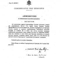 S.E. Mons. Ignazio Sanna nominato Amministratore Apostolico di Oristano