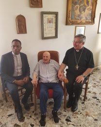 Visita dell'arcivescovo al decano dei sacerdoti arborensi