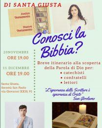 Conosci la Bibbia? Mercoledi 11 un nuovo incontro per la forania di S.Giusta